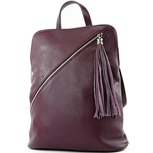 Zaino In Pelle 3in1 Citybag T141 T161 Bordeauxviolett