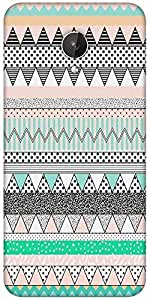 Snoogg Polka Wave Aztec Designer Protective Back Case Cover For Micromax Canvas Spark Q380