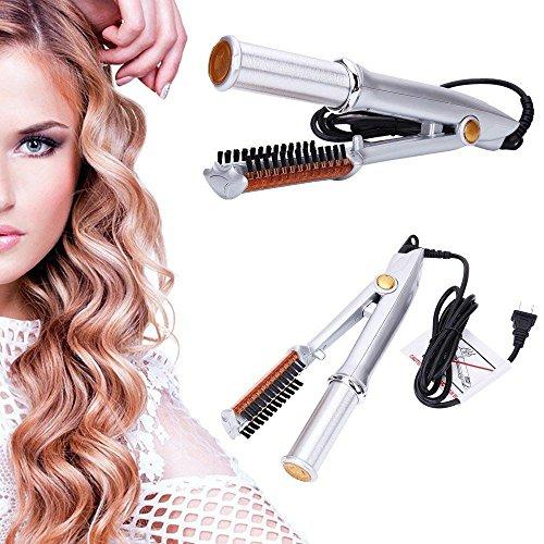 2 dans 1 fer à lisser vert cheveux/bigoudi / cheveux raides peigne, automatique humide et sec