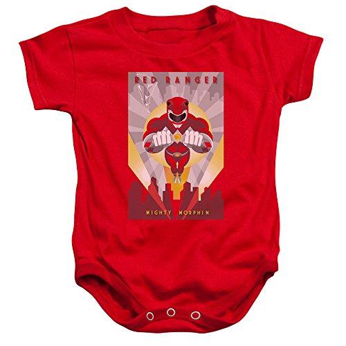 nkind-Strampler Red Deco, 6 Months, Red (Power Ranger Body)
