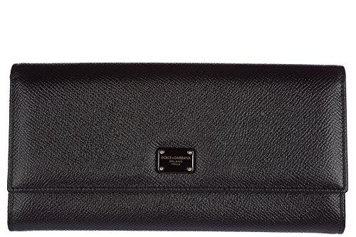 Dolce&Gabbana Damen Geldbörse Portemonnaie Echtleder Geldbeutel Bifold continent (Gabbana Dolce & Damen-geldbörsen)