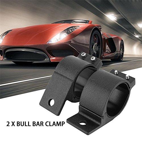 Swiftswan 1 Pair Bull Bar Mount Brackets Clamps 60-65mm Car LED Work Light Bar Holder(Color:Black)