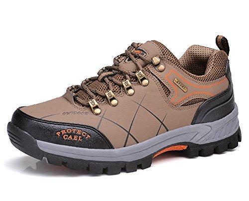 Minetom Scarpe da Trekking Uomo Donna, Impermeabile Scarpe da Escursionismo Arrampicata Stivali Unisex Traspirante Antiscivolo Sportive All'aperto Sneakers Outdoor Scarpe B Cachi