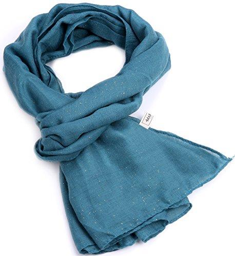 Marino Avenue - Ensemble bonnet, écharpe et gants - Femme bleu sarcelle