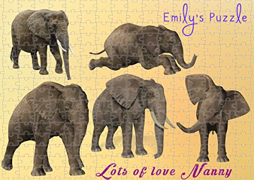 personnalisé éléphant puzzle à personnaliser avec votre propre photo et Text. pouvez Modifier n'importe quel Texte. 1002D1