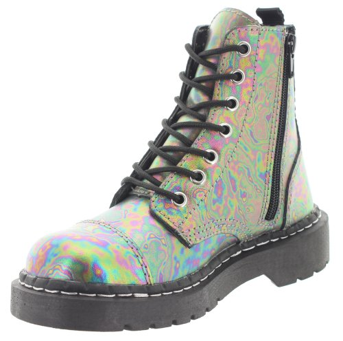 T.U.K. , Bottes rangers femme Multicolore - Multicoloured