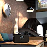 from AZATOM AZATOM Multiplex DAB Digital FM Radio Bluetooth Battery Alarm Clock - Bluetooth - Stereo Speaker System - Dual Alarm - Clock Radio - Rechargable Battery - USB Charging - Premium Stereo Sound (Black Ash) Model D1
