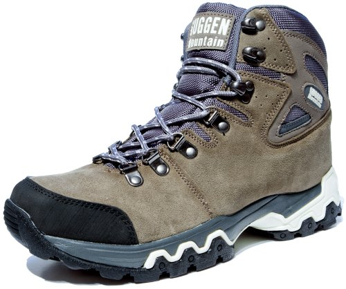 GUGGEN Mountain Bergschuhe Bergstiefel Wanderschuhe Wanderstiefel Mountain Boots Trekkingschuhe Unisex M008, Braun, EU 43