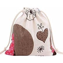 Sannysis bolsos de mujer con cordón mochila infantil Bolsa de hombro Búho