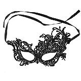 JUSTFOX - Venezianische Augenmaske schwarz