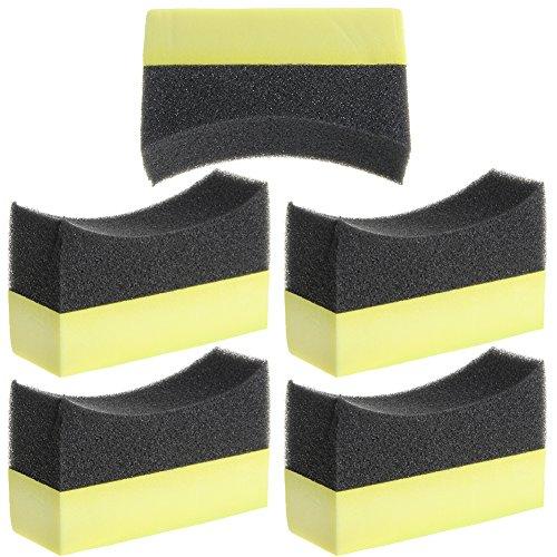Professional Reifen-Reifen-Dressing-Applikator Gebogenes Schaum-Schwammpad ()