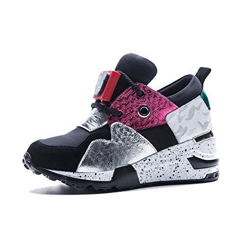 Suola Spessa Piattaforma Donna WSXY-A1804 Sneakers Fitness Casual all'Aperto,KJJDE color