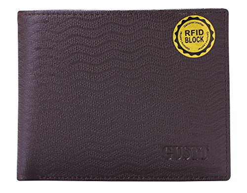 GUSTT Männer Royal RFID Blocking Leder Geldbörsen Bifold Wallet (G09) G04