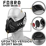 fdbro deportes máscaras nuevo embalaje estilo negro de alta altitud formación acondicionado deporte máscara 2.0con caja, negro