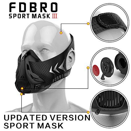 FDBRO Sport - Masken Neue Verpackung Stil Schwarze Hohe Höhentraining Klimaanlage Maske 2.0 Mit Box - Sport