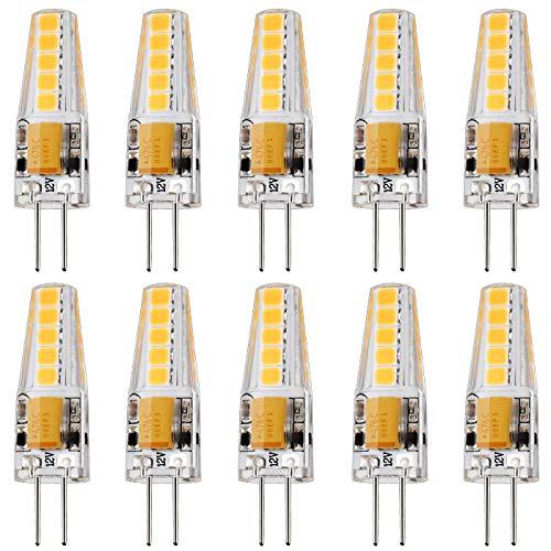 JAUHOFOGEI 10x 2W Mini Bombilla LED G4 - 12V AC