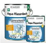 Jaeger Aqua Fliesenlack für Wandfliesen, seidenmatt (750 ml, grafite (dunkelgrau0702))