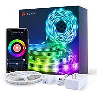TECKIN Tiras LED RGB Wifi 5M 5050 SMD Tira de Luces Colores Inteligente funciona con Alexa Móvil Google Home,Multi-Modos para Navidad,TV,Dormitorio,Fiesta y Decoración