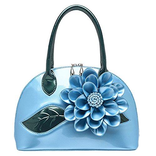 2017 Borse Da Donna E Borse Da Donna Designer Borse Da Donna In Pelle Di Vernice Blue