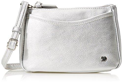 Tom Tailor Denim Damen Cilia Umhängetasche, Silber (Silber), 4x14x21.5 cm (Handtasche Silber-abend)