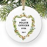 Police Officer Geschenke Polizistin Best weiblich Cop Ever Favorite Frau American Law Enforcement rund Weihnachten Ornament Andenken Xmas Tree Dekoration Hochzeit Jahrestag Geschenkidee