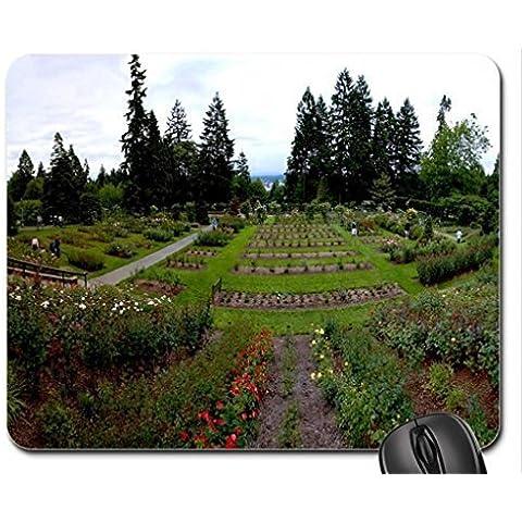 Portland, Oregon Rose Test Garden Mouse Pad, Mousepad (Flowers Mouse Pad) - Rose Test Gardens