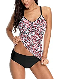 V FOR CITY Tankini Damen Bauchweg Badeanzug Push Up Two Piece