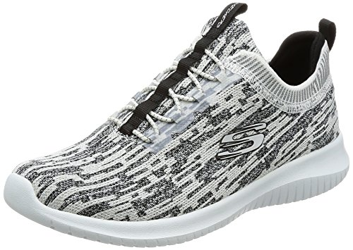 Skechers Ultra Flex Bright Horizon Scarpe da corsa Donna, Bianco (White Black), 38 EU