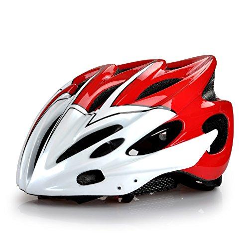 Rennrad Fahrradhelm für Erwachsene/ Männer/ Frauen Fahrradschutzhelm in rot Größe 52-63cm