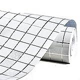 DooXoo - Papel de pared autoadhesivo de aluminio y pl?¢stico resistente al agua con dise?o de azulejos para cocinas y ba?os (44 x 200 cm)