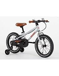 Greenway Bicicleta con ruedines de apoyo, para niños de 3a6años, estructura de acero de 40 cm