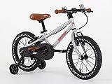 Bicicleta con ruedines de apoyo de Greenway, para niños de 3a6años, cuadro de acero de 40 cm