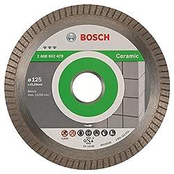 Bosch Pro Diamanttrennscheibe Best for Ceramic Extraclean Turbo zum Schneiden von harten Materialien (Ø 125 mm)