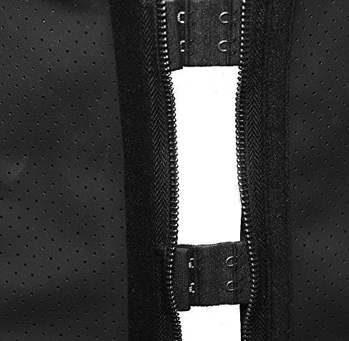BSLINGERIE® Damen Abnehmen Latex-Gummi Stahl ohne Knochen Taillenmieder Corsage Schwarz (Atmungsaktives Gewebe)