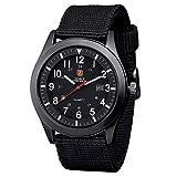 orologio uomo zeiger orologio da polso da uomo orologio sports militar cinturino in nylon calendario semplice stile orologio regalo per l uomo blu verde nero w283-m