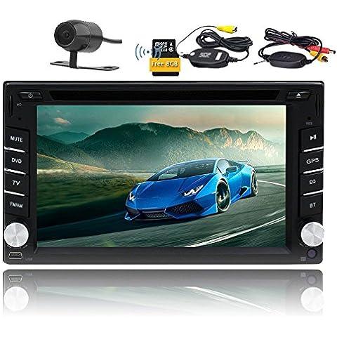 EinCar 6,2pollici in dash autoradio digitale touch screen auto lettore