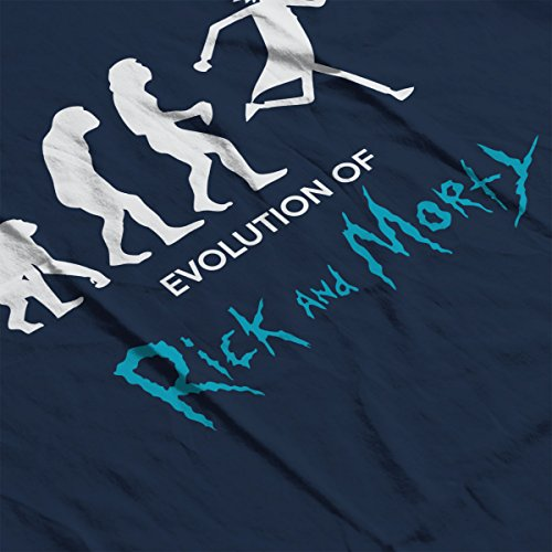 Evolution Of Rick And Morty Women's Hooded Sweatshirt Navy blue