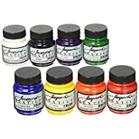 Jacquard Products Textile Fabric Paint 2.25Oz Primary and Secondary Colors, Acrylic, Multicolour, 4.44x18.41x12.7 cm