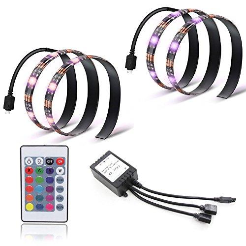 Xcellent Global Bias Beleuchtung für HDTV 5050 5V USB Betrieben TV Rücklicht mit Fernbedienung Flexibel RGB Mehrfarbige LED Streifen-Lichter, LD122