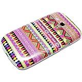 DeinPhone coque de protection rigide pour samsung galaxy s3 mini motif à zigzags violet/multicolore