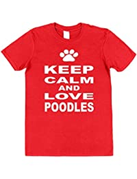 Click My Clobber Mens, T-Shirt, Keep Calm And Love Poodles