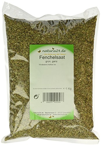 Naturix24 Fenchel süß ganz - Aromaschutzbeutel, 1er Pack (1 x 1 kg)