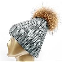 HMILYDYK para Mujer Gorro de Invierno Gorro de Punto Gorra de esquí con  Borla de Suave 5ab17a60bad