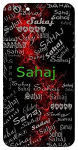 Sahaj (Easy ,Simple; Original) Name & Sign Printed All over customize & Personalized!! Protective back cover for your Smart Phone : Samsung Galaxy S4mini / i9190