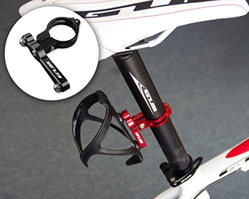 DSstyles Fahrrad Wasserflaschenhalter Alu-Adappter - Alu-Gestell für Flaschenkäfig - Radfahren Wasserflasche Käfig Clamp Lenker Rack Halterung für Fahrrad Mountain Road Bike - Schwarz
