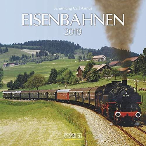 Eisenbahnen (BK) 227019 2019: Broschürenkalender mit Ferienterminen. Format: 30 x 30 cm