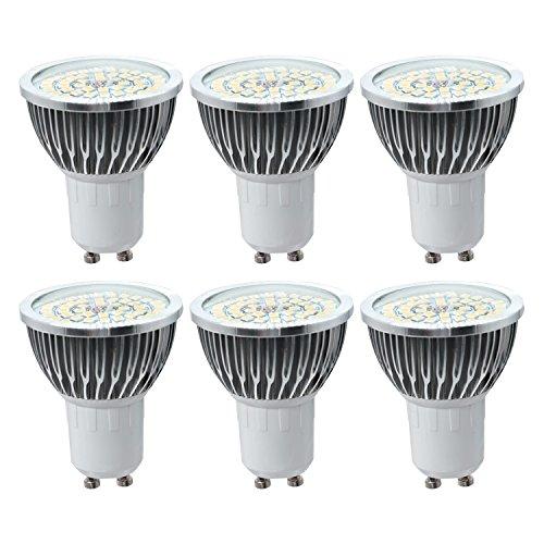 LED-Glühbirne GU10 Medium Standard Sockel 7Watts Ersatz 70W Halogenlampe 2835SMD LED-Licht dekorative LED-Lampe Scheinwerfer AC 85-265V (Pack 6) LED-Glühbirne (Größe : Warmweiß) - 24 Volt 70 Watt Glühbirne