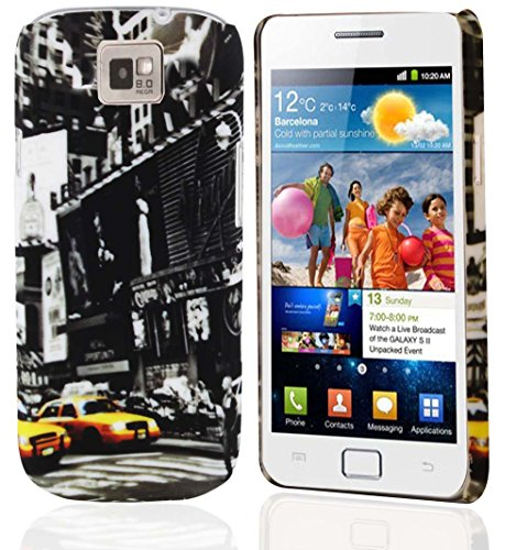 Cadorabo – TPU Hard Cover per > Samsung Galaxy S2 / S2 PLUS < - Case Cover Involucro Bumper Accessorio in Design: NEW YORK CAB