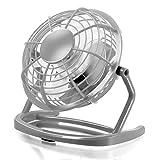 CSL - USB Ventilador | mini ventilador de mesa / fan | PC / portátil | en antracita