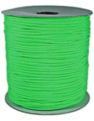 1000' Foot Spool Neon Green Parachute Cord 7-Strand Core 550 Cord by Paracord Planet